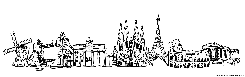 Landmarks of Europe draw