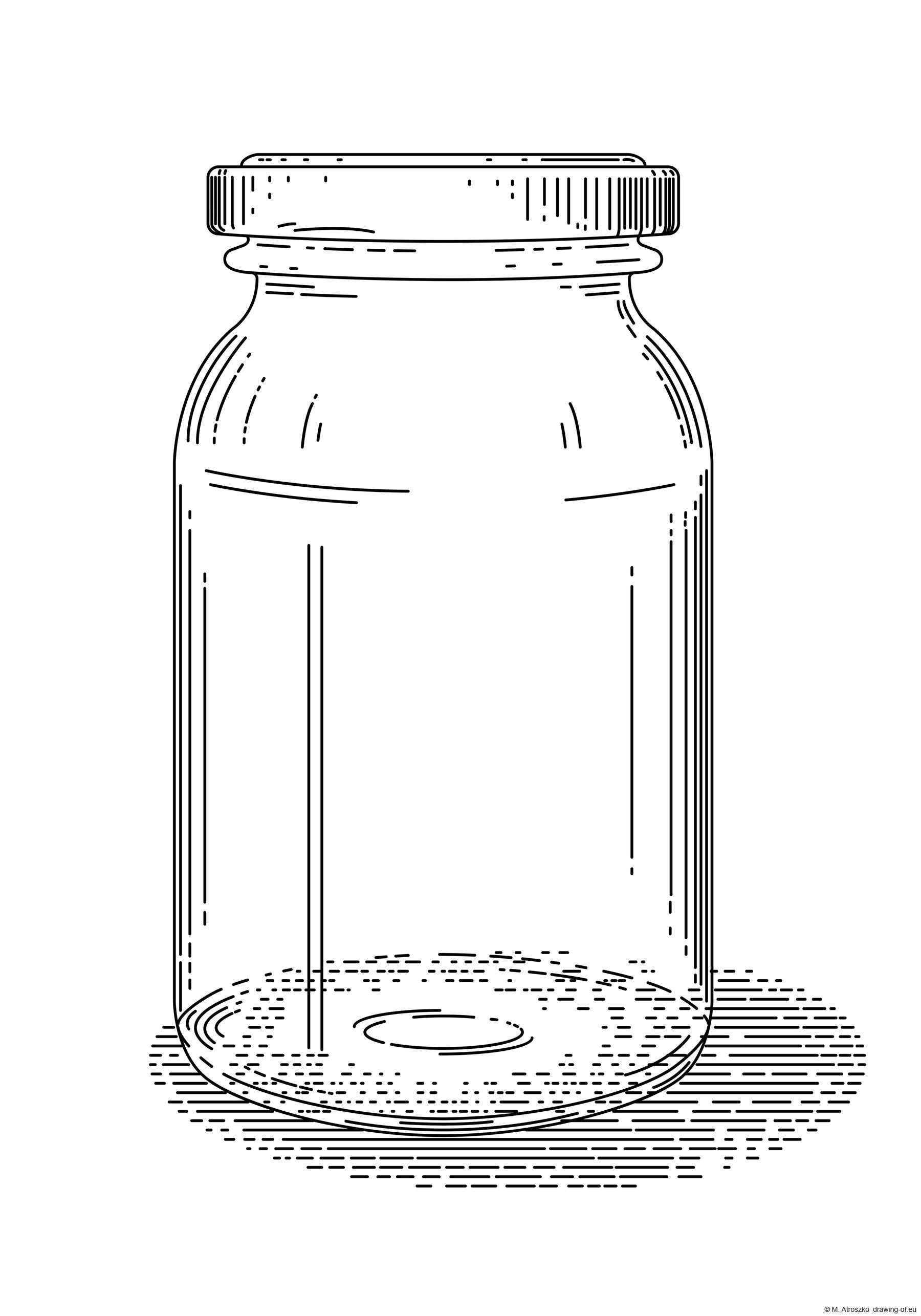 Vintage jar drawing