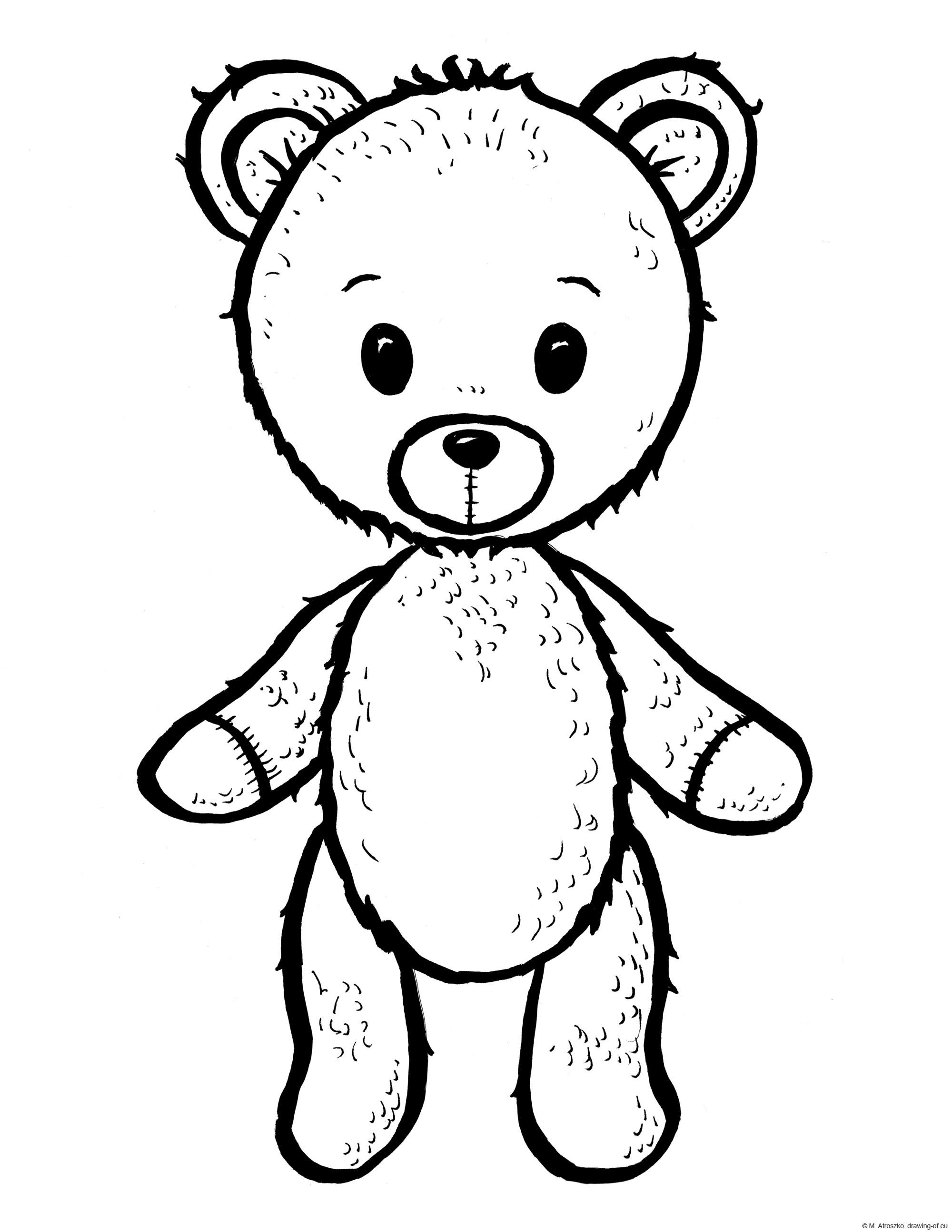 teddy bear draw