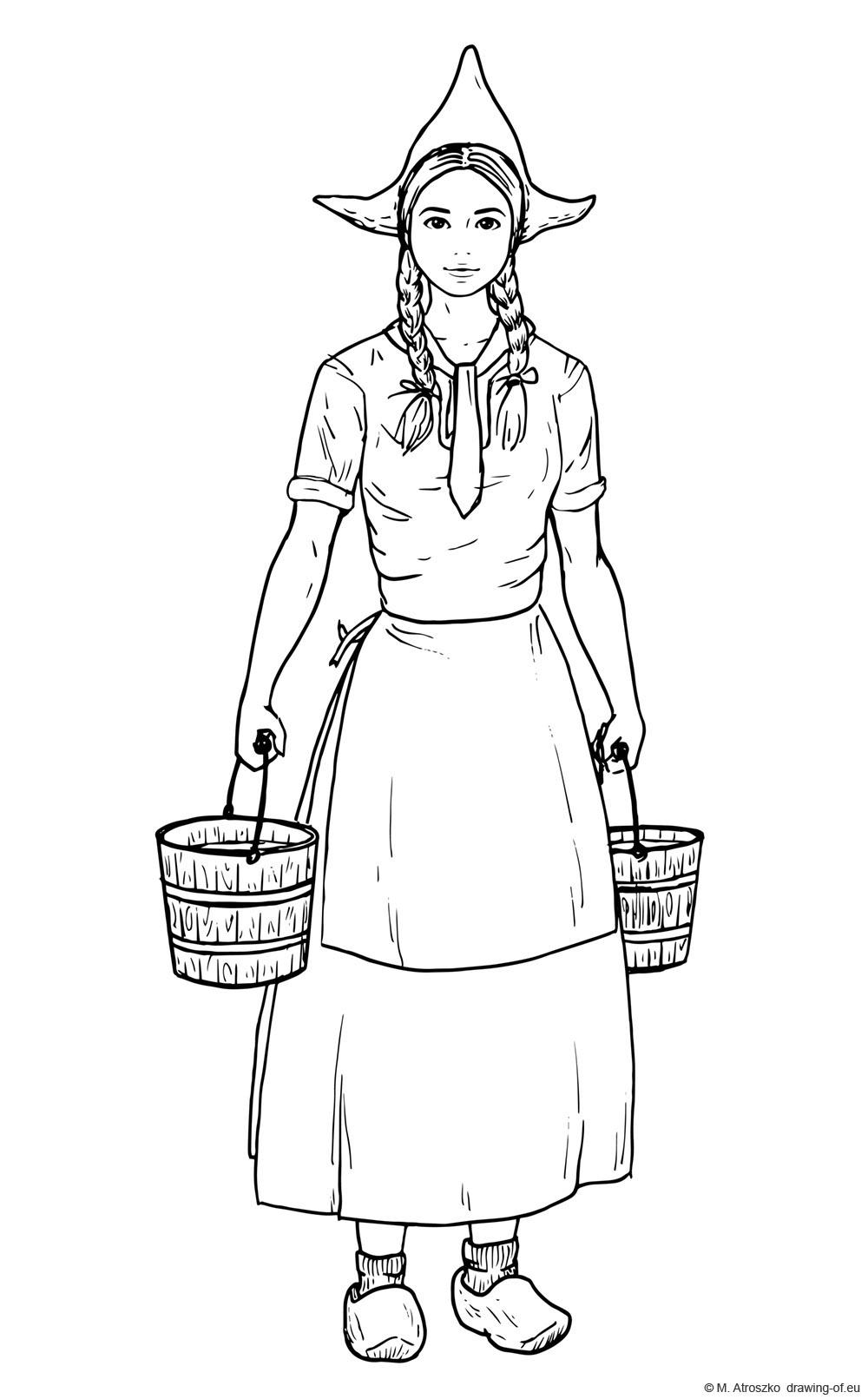 Dutch milkmaid draw
