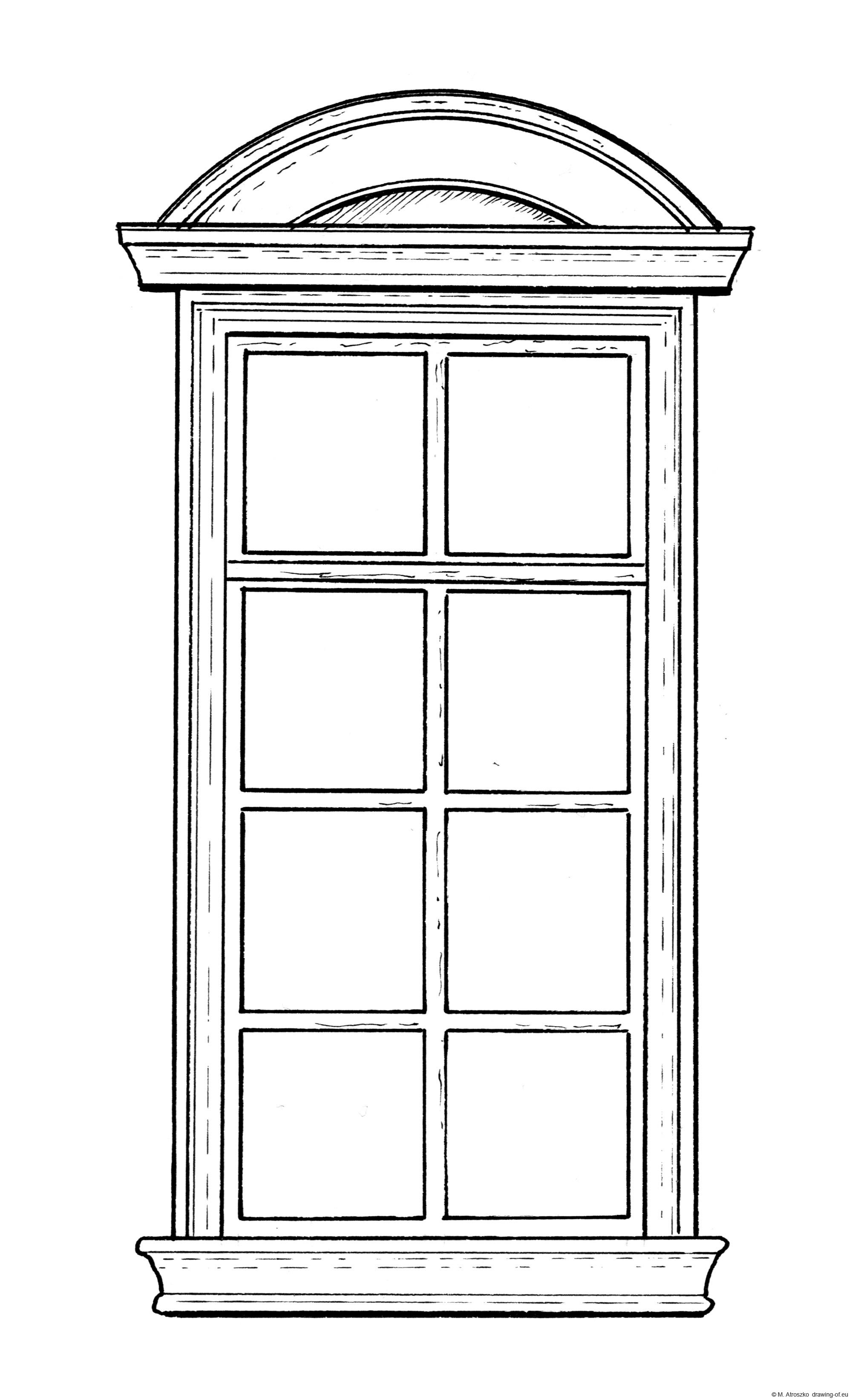 Brownstone window - draw