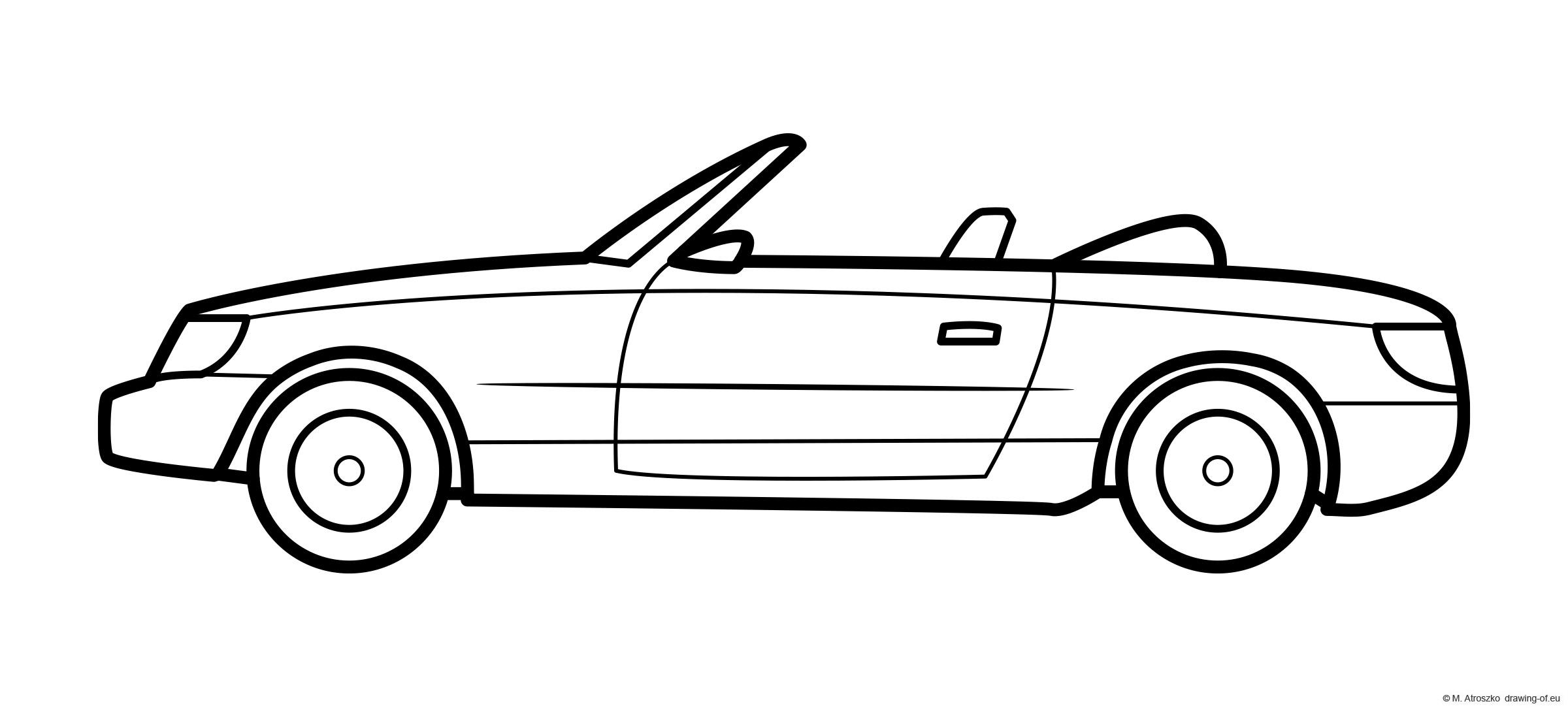 Cabrio car coloring page - convertible