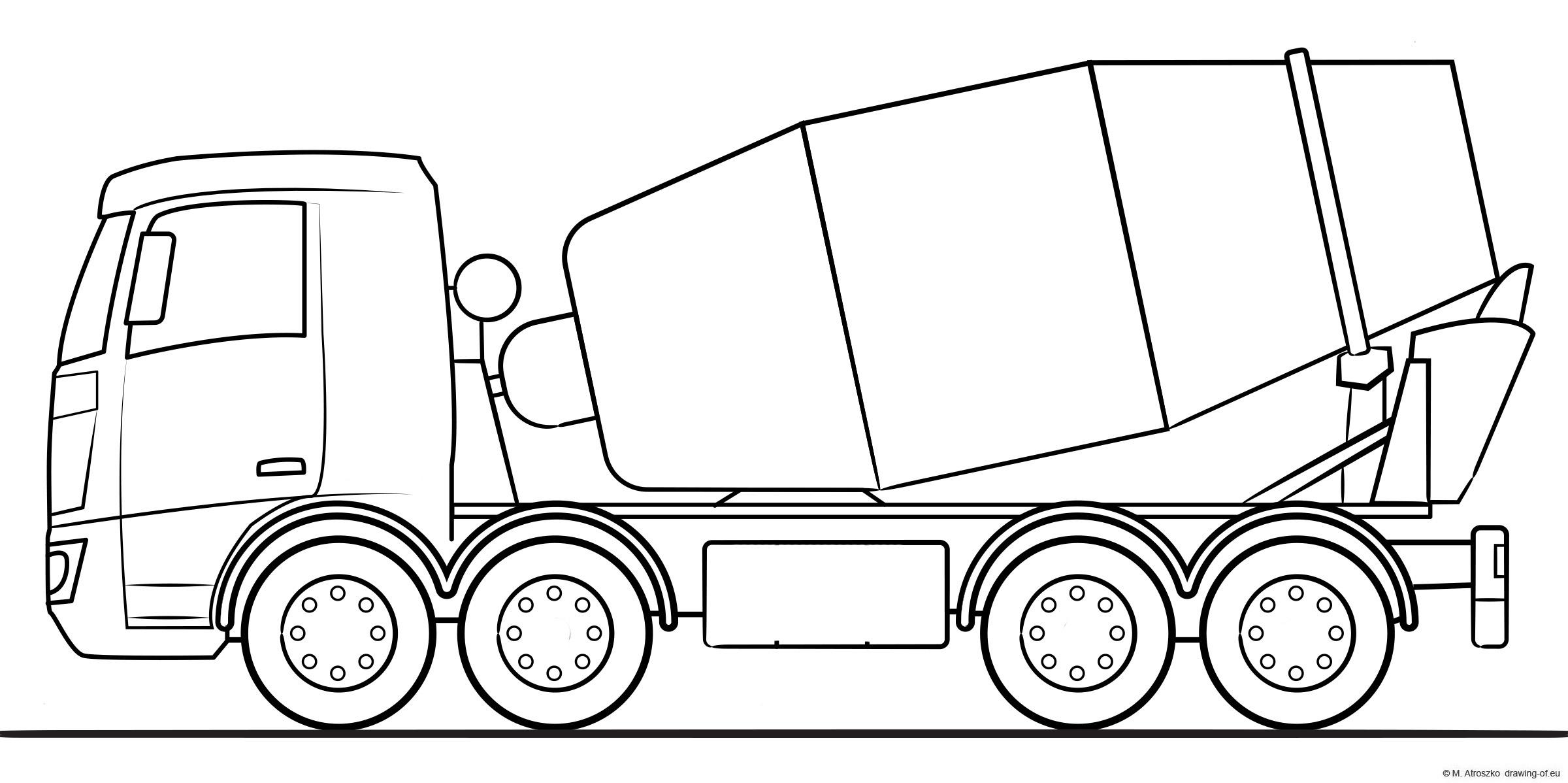 beton mixer truck illustration