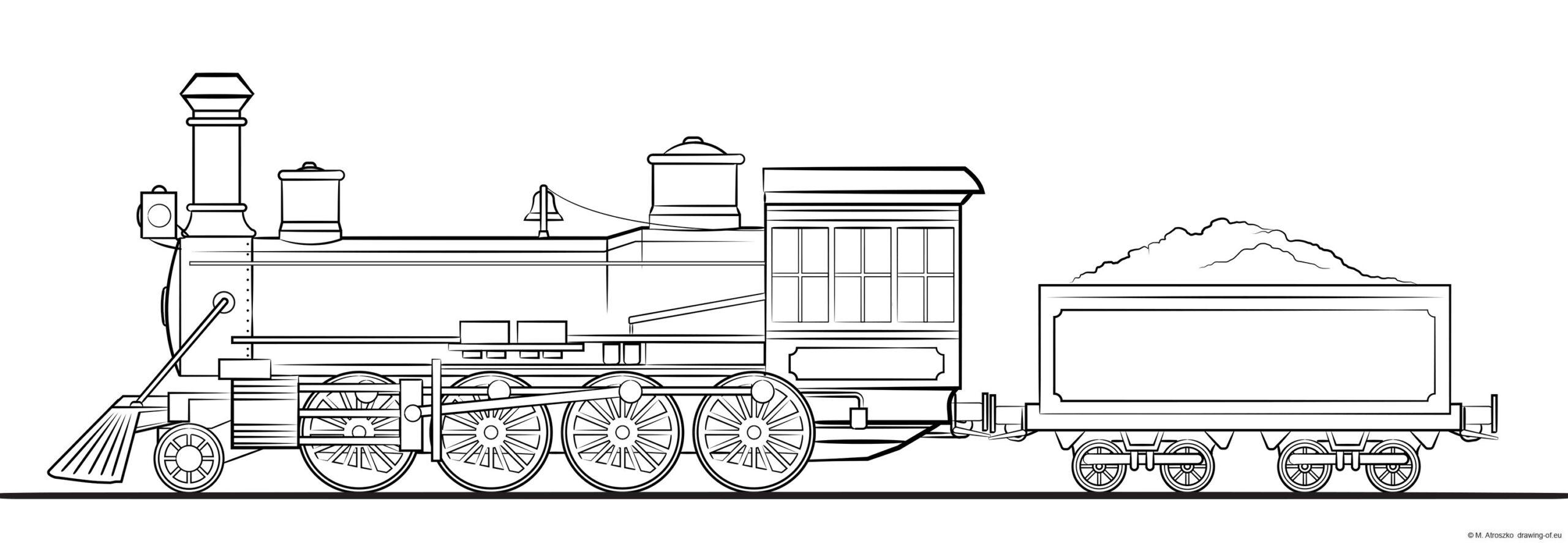 steam train - locomotive with tender