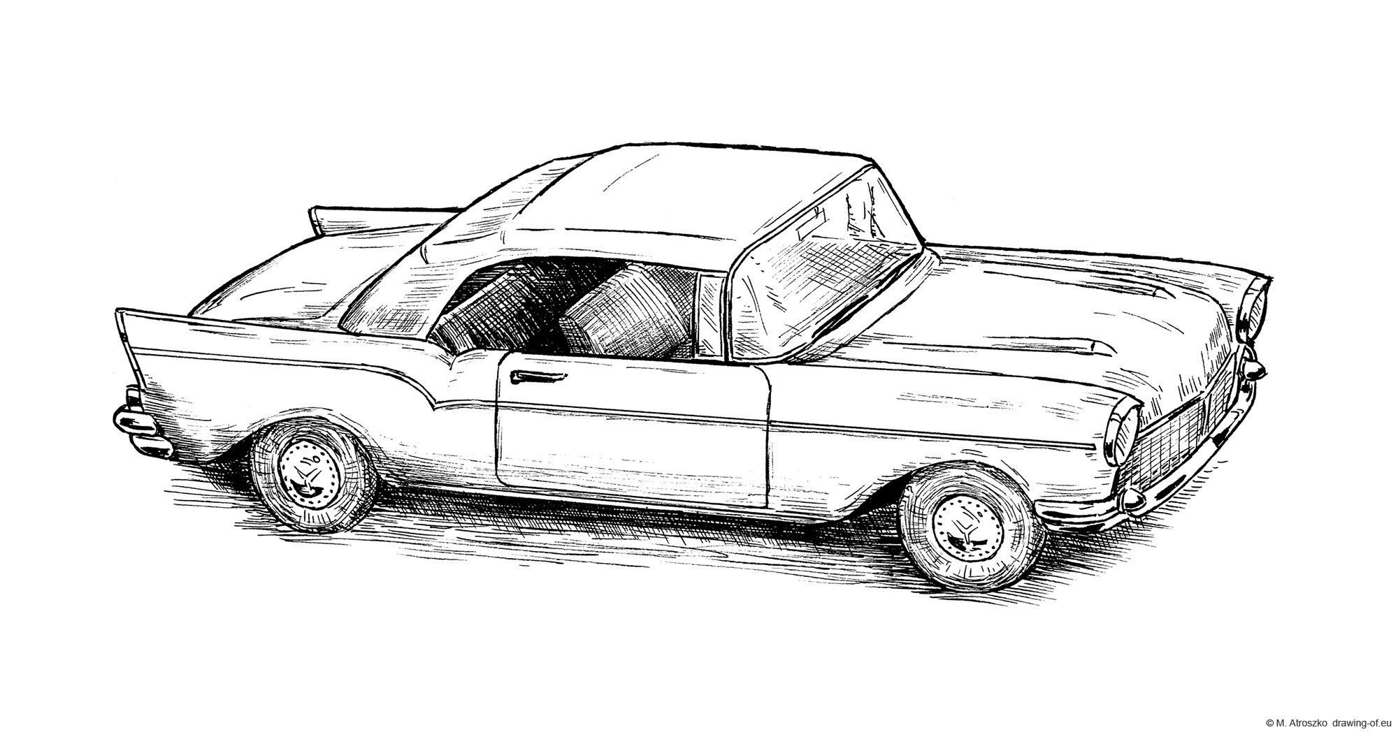 Drawing of chevrolet