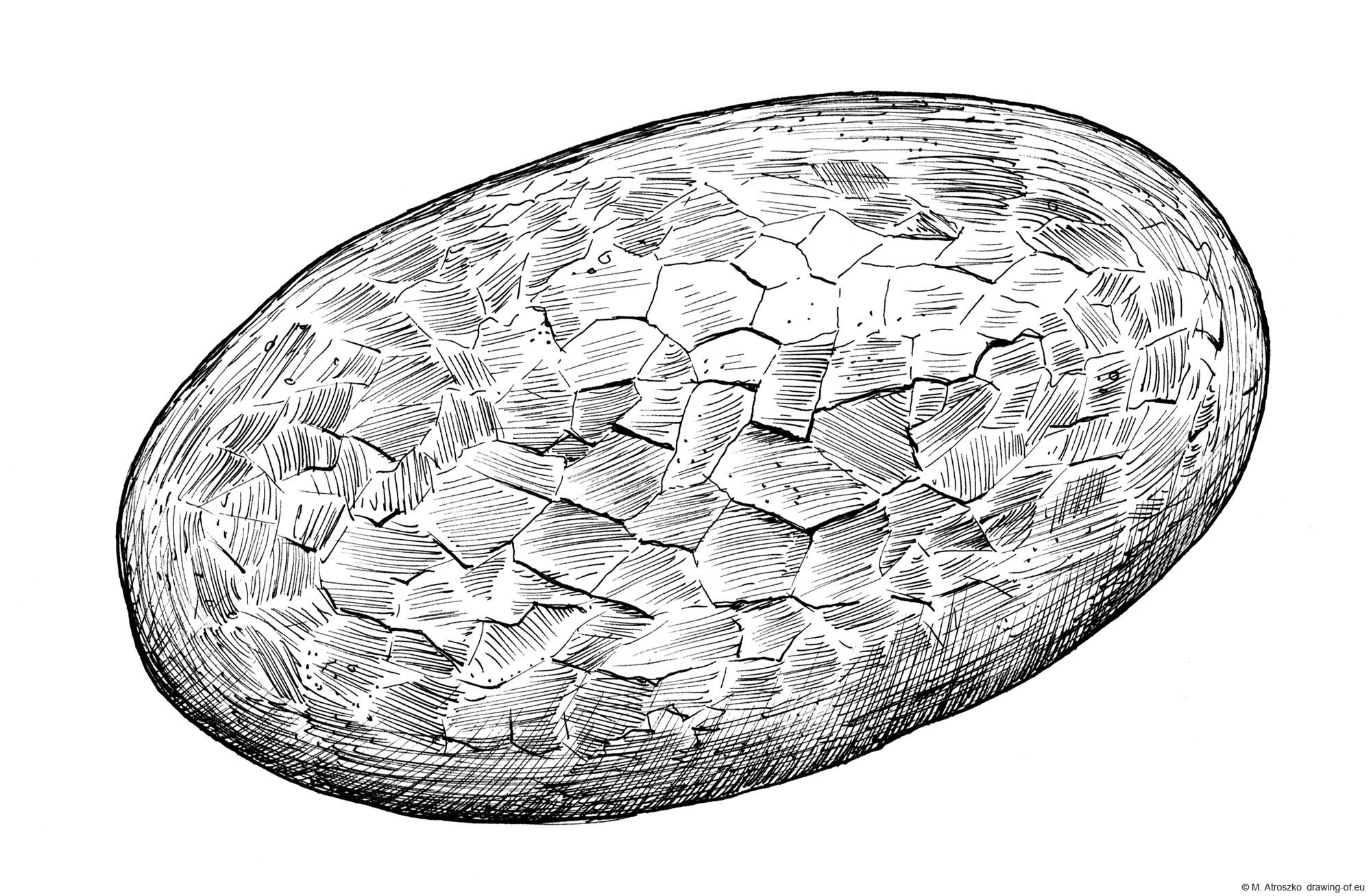 Drawing of bread