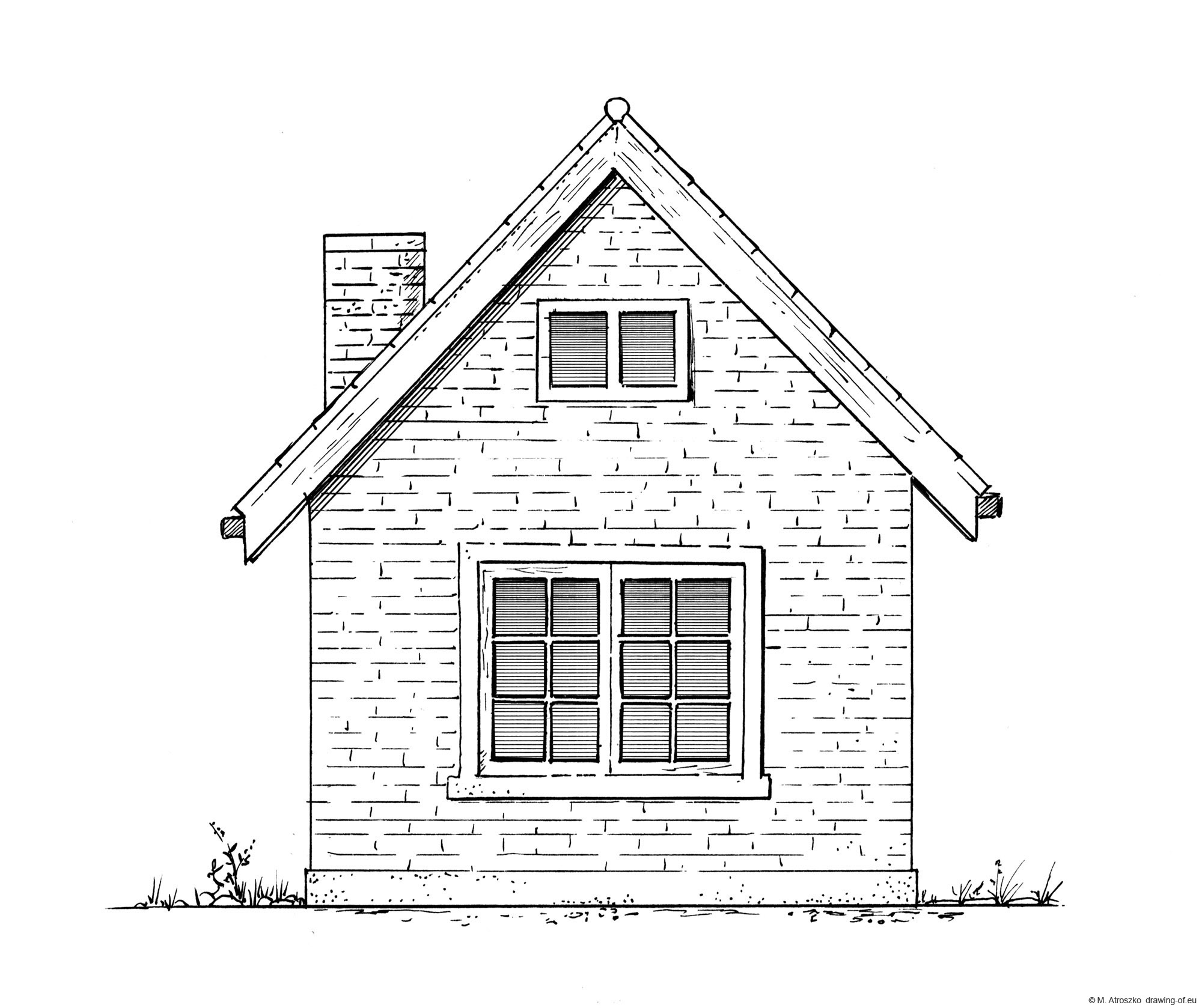 Drawing of little home