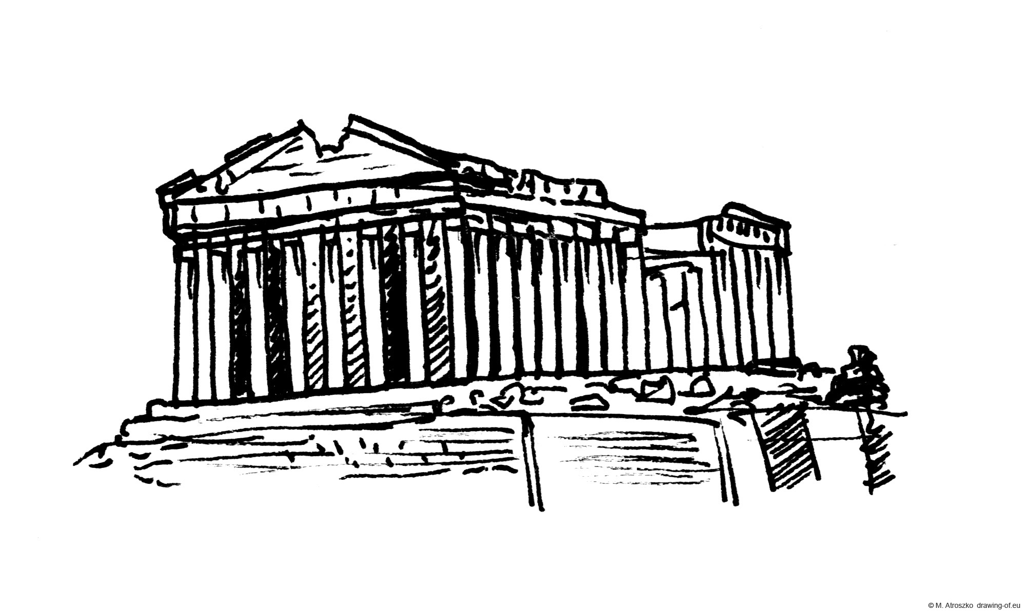 Drawing of Acropolis