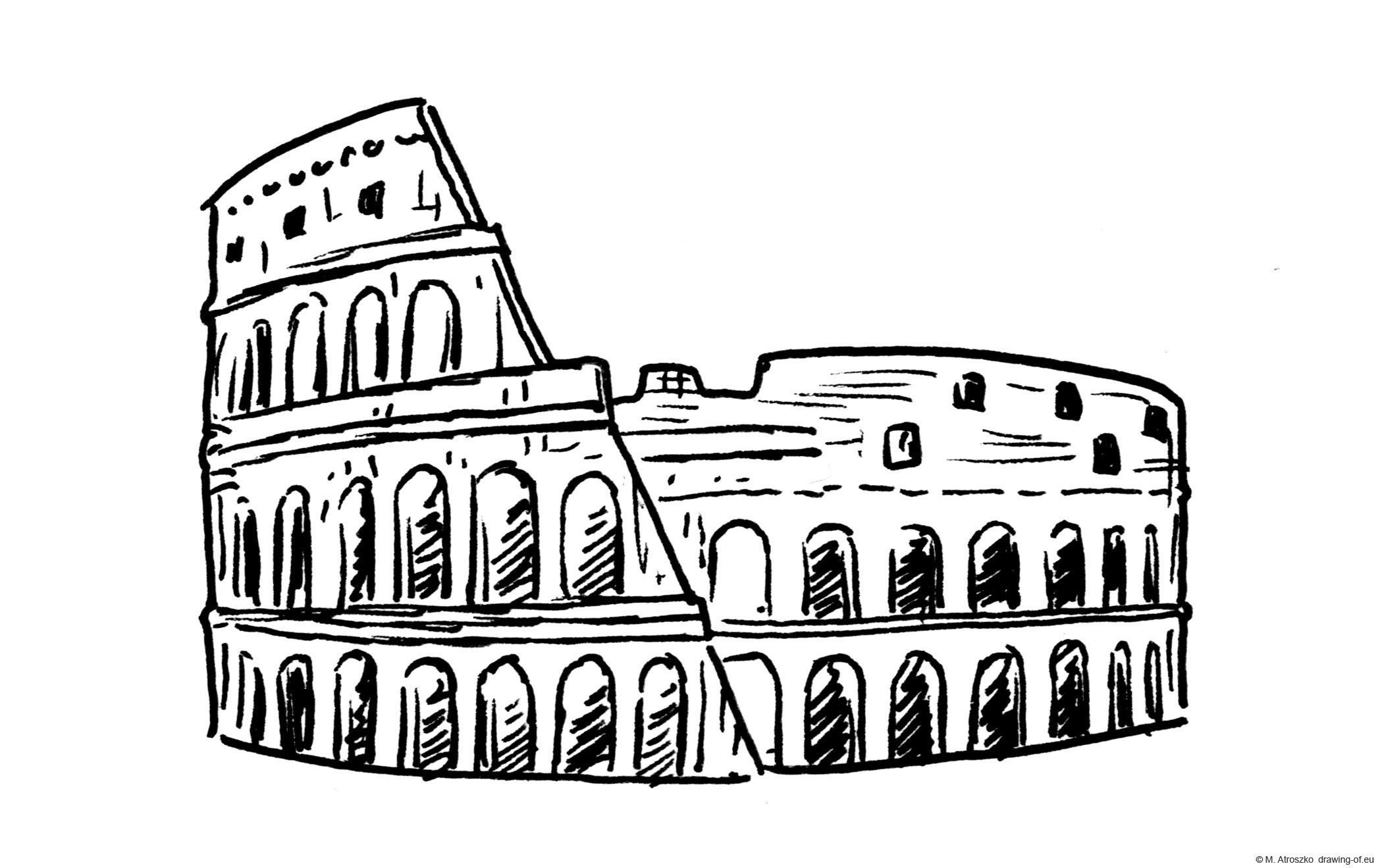 Drawing of Colosseo