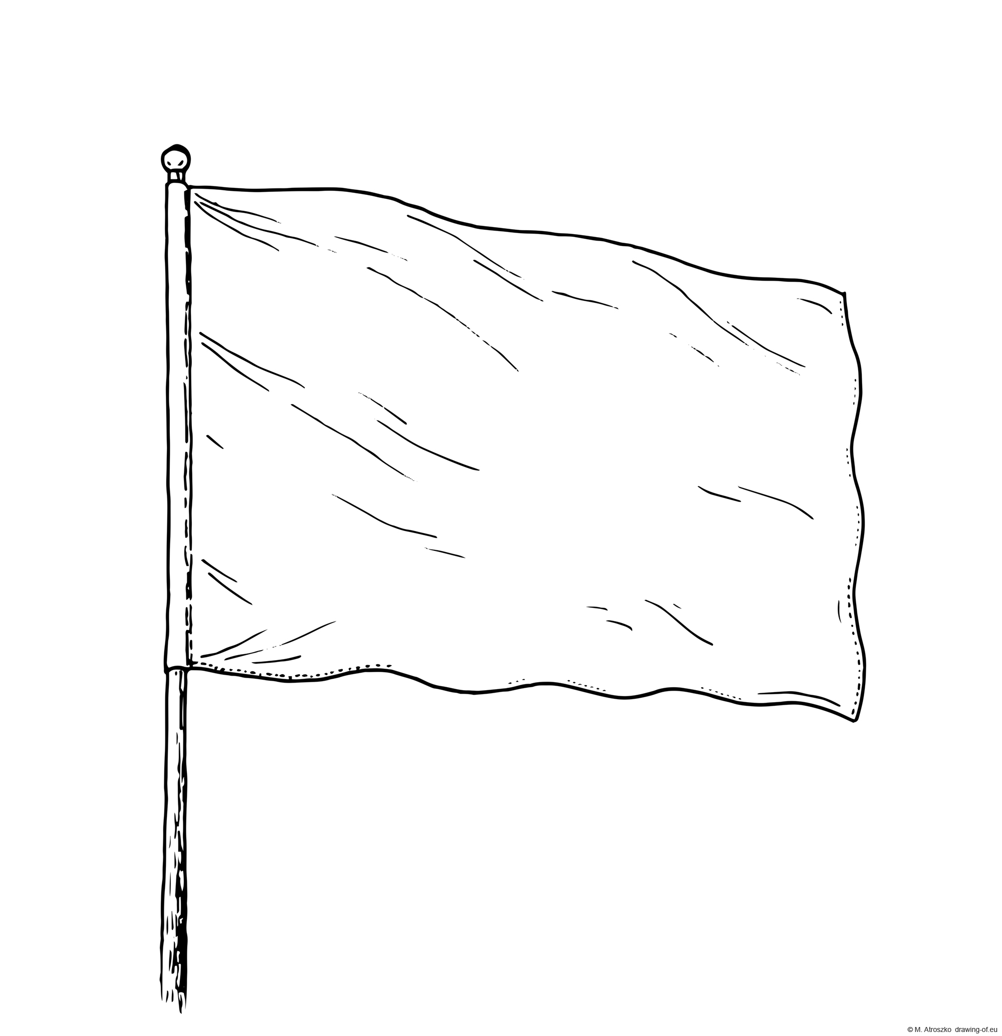 Drawing of white flag