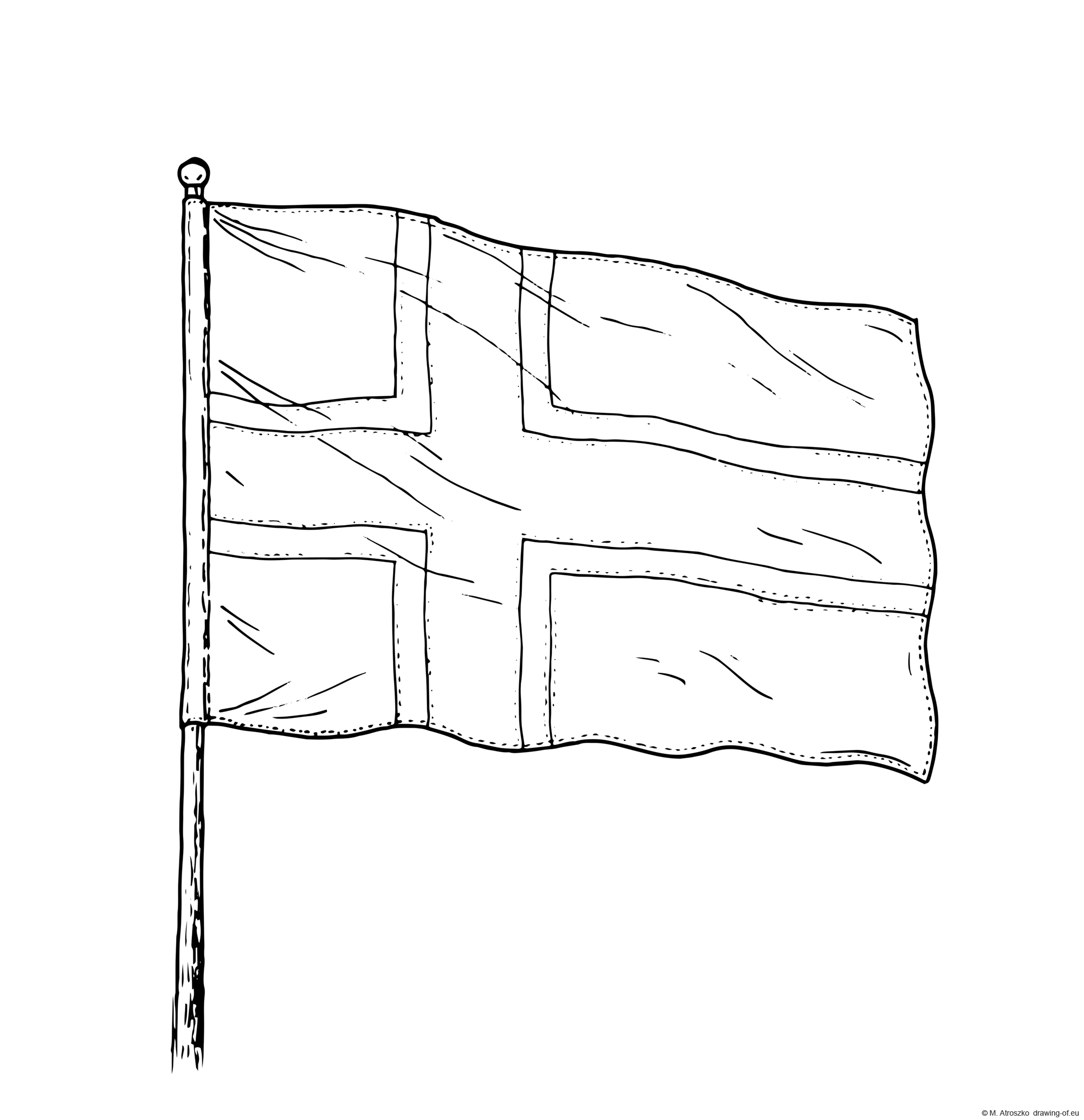 Drawing of Norway Flag