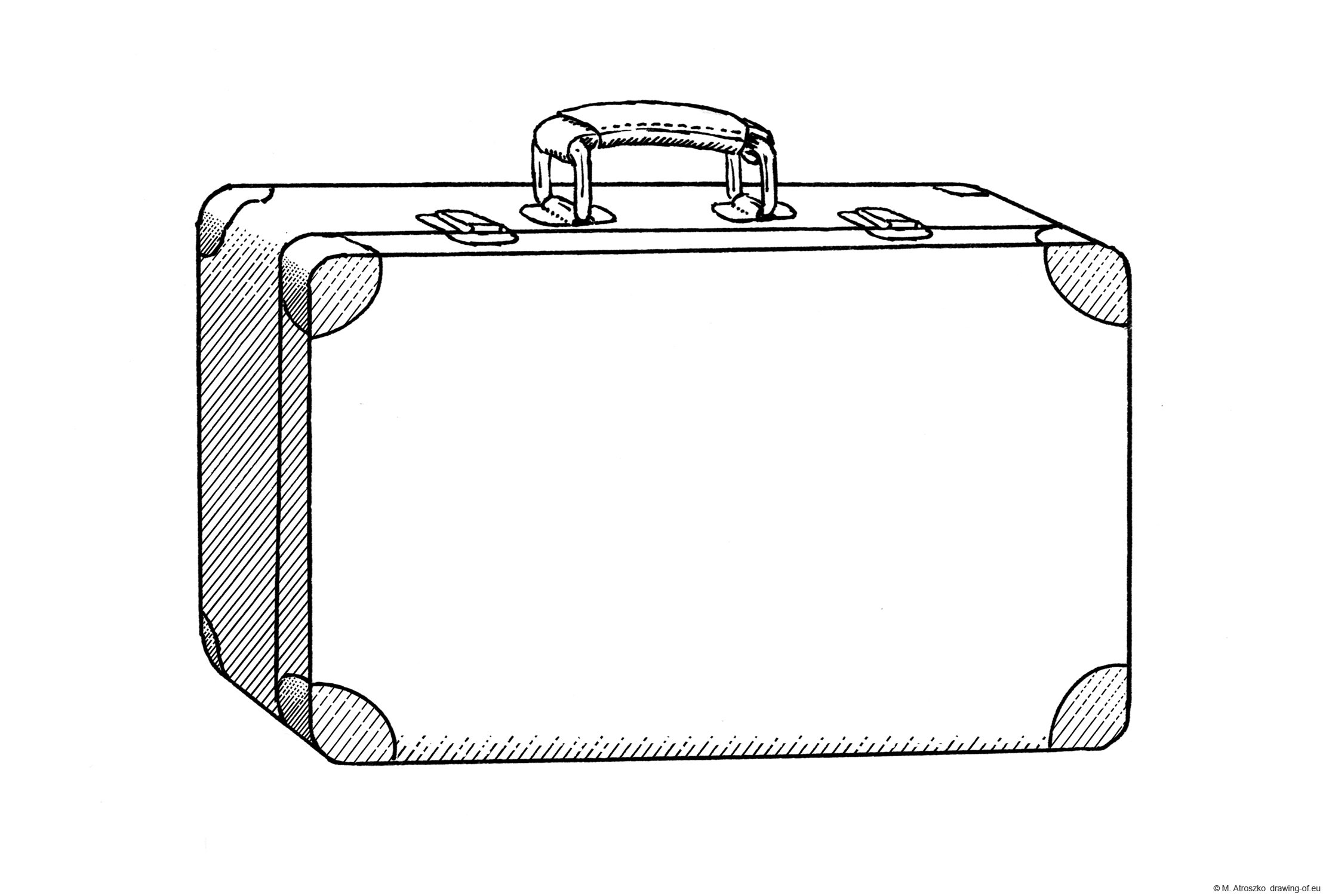 Drawing of old suitcase