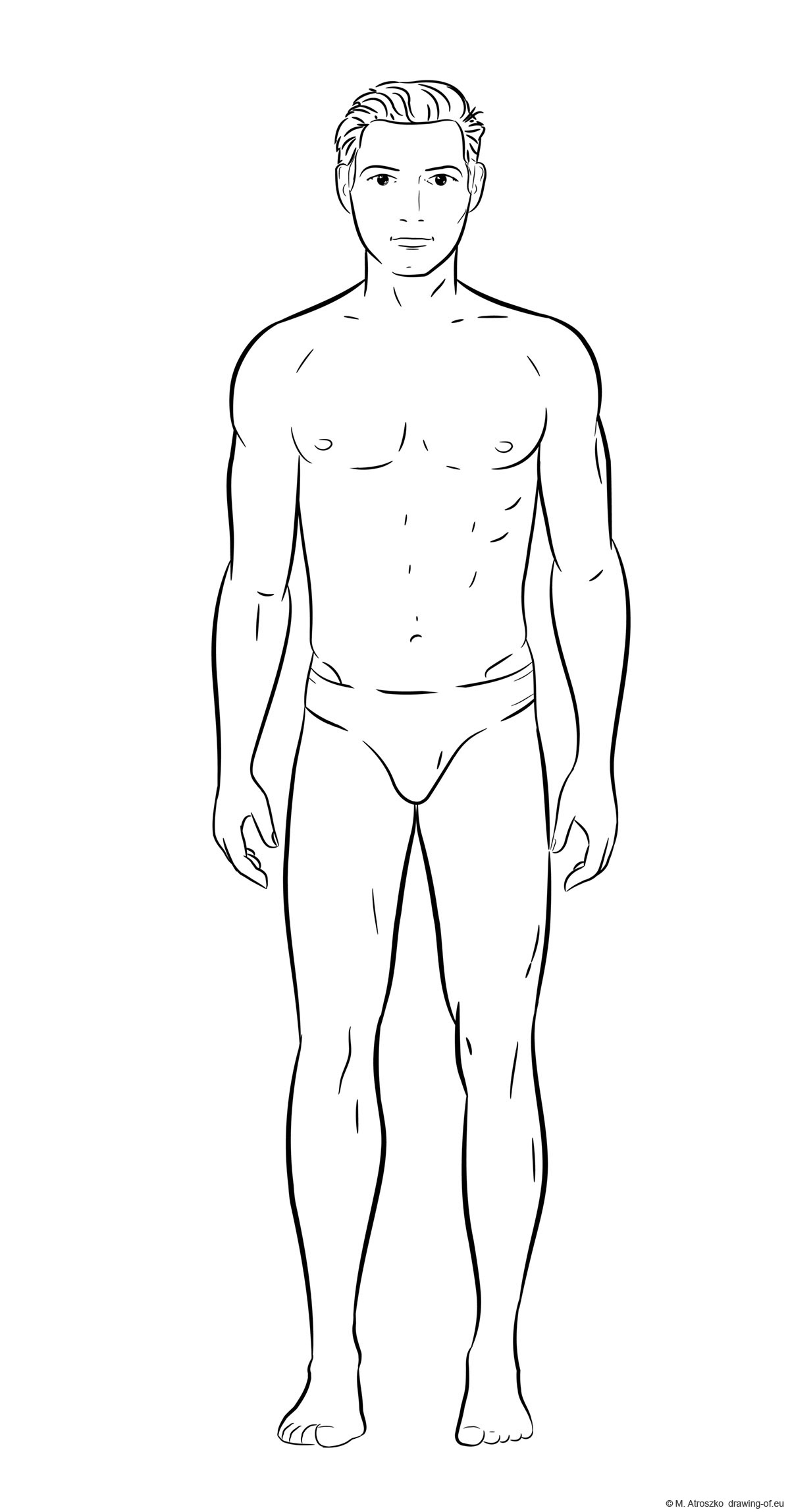 Drawing of a man - body
