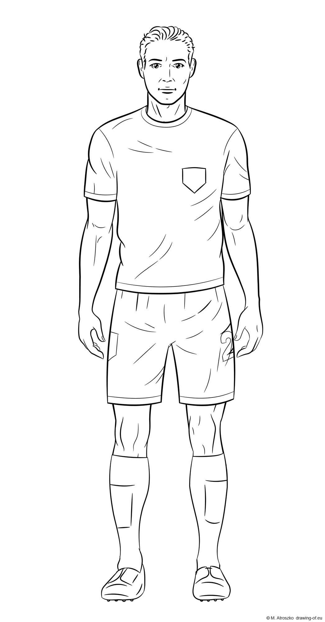 Drawing of soccer player