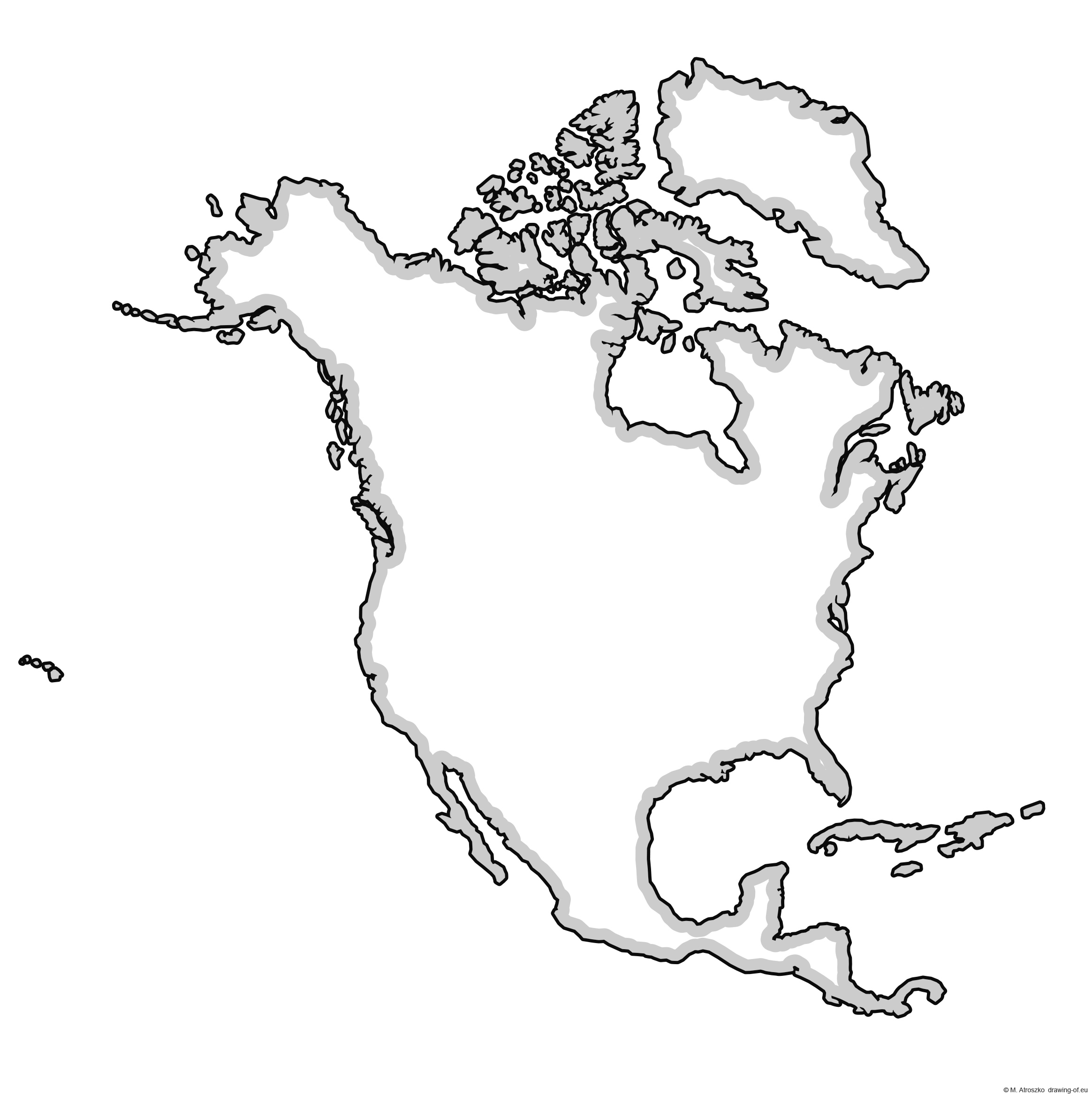 North America map for printing