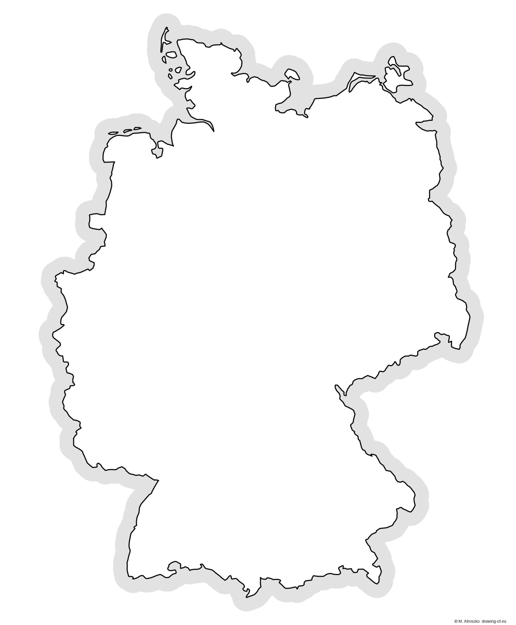 Contour map of Germany