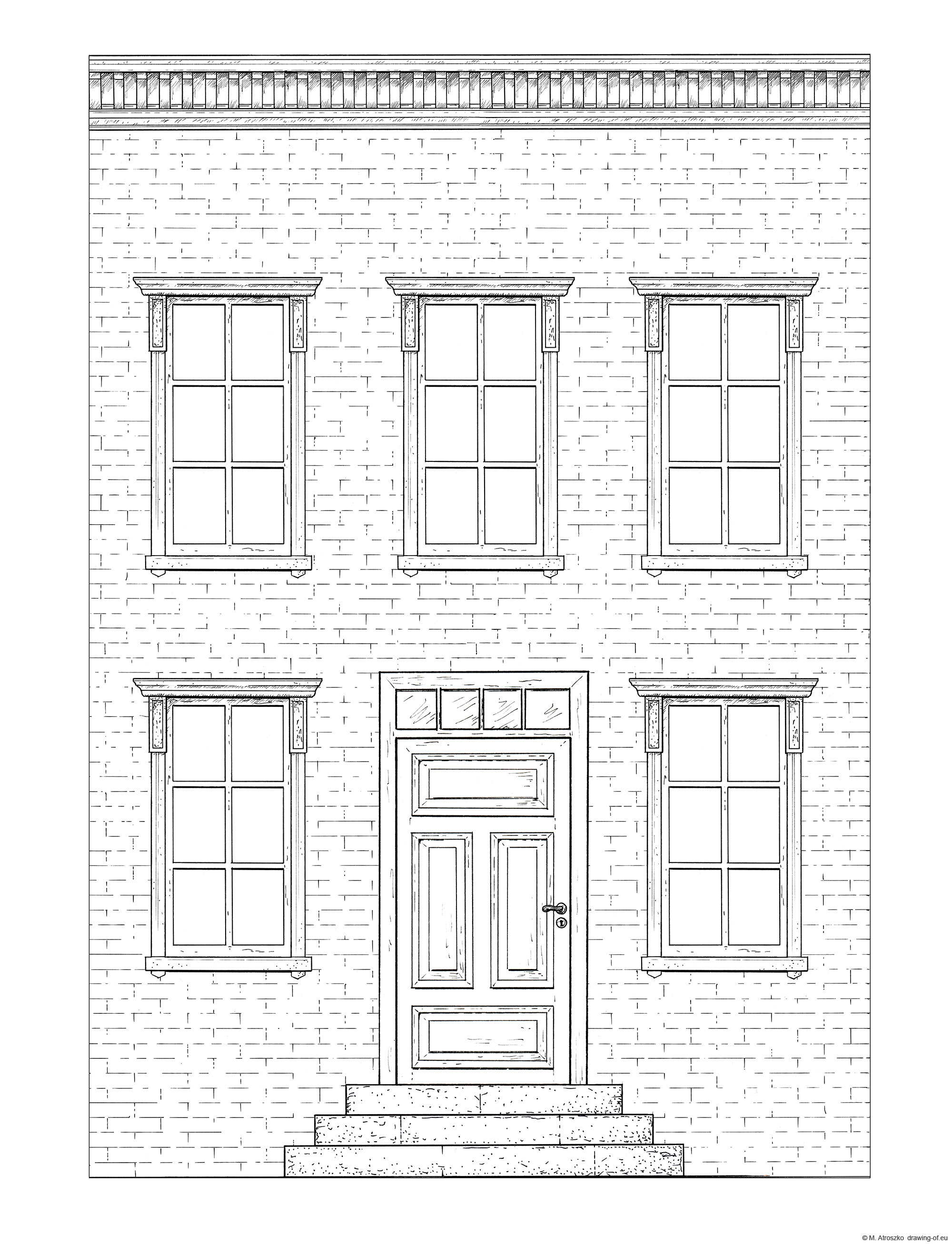 Drawing of building - town house