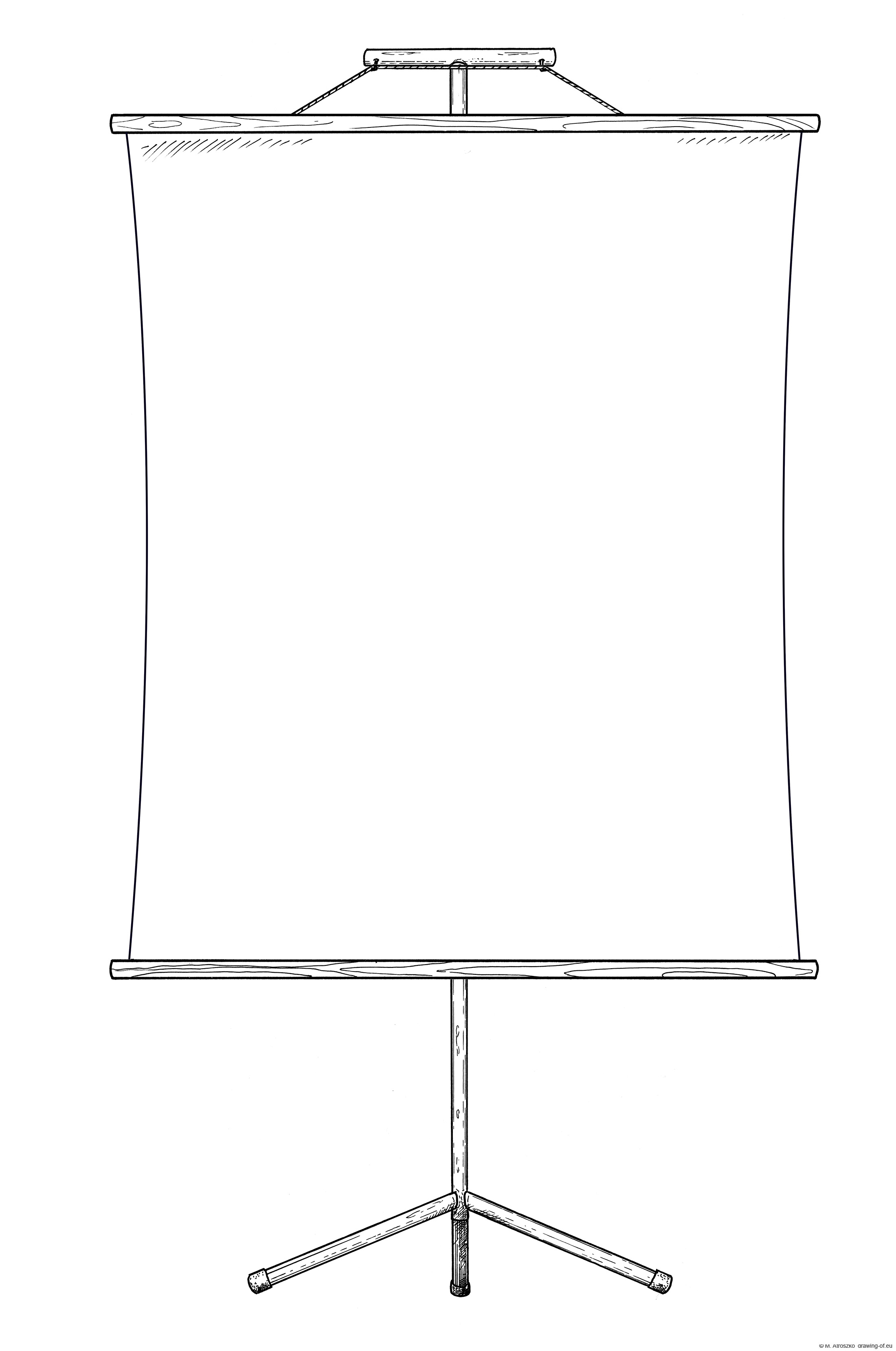 Blank banner - billboard - map on a stand