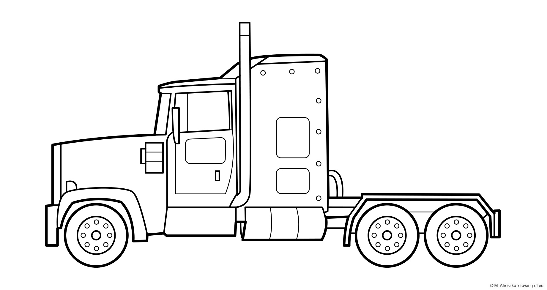 US truck coloring page