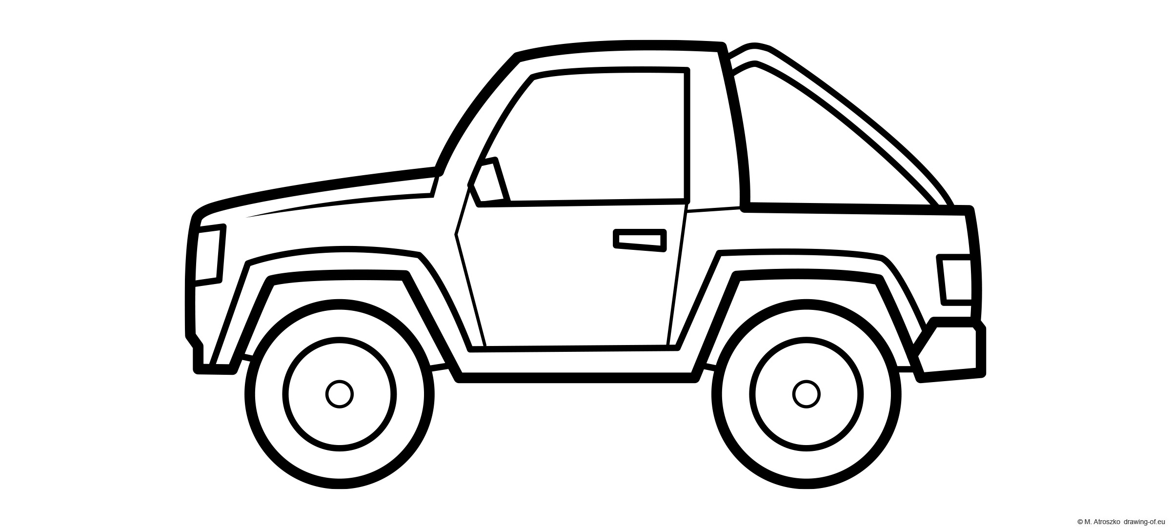4x4 car - jeep coloring page