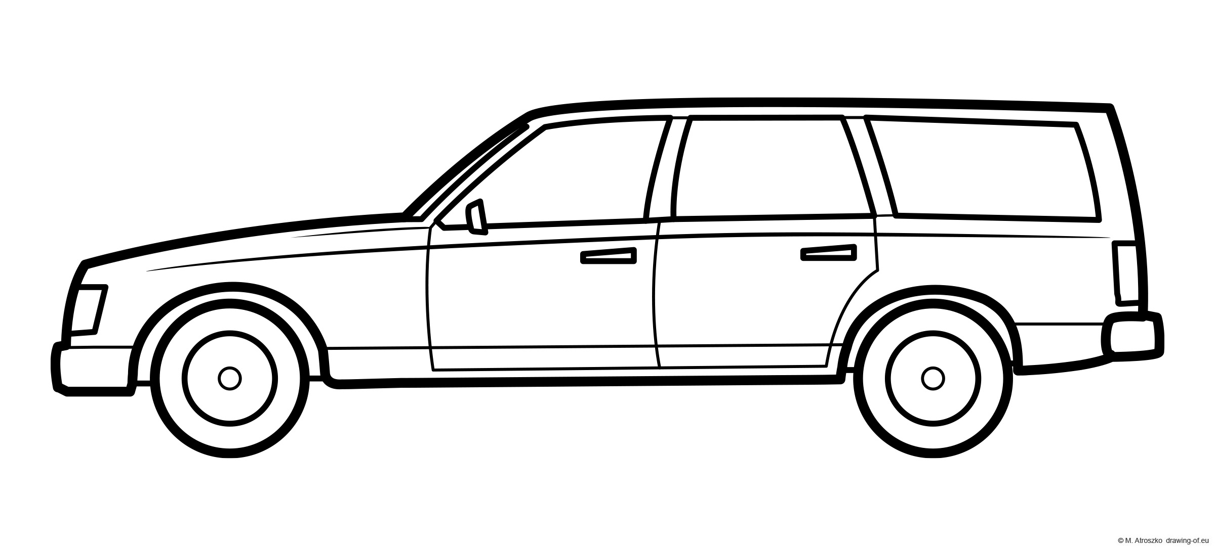 Combi car coloring page