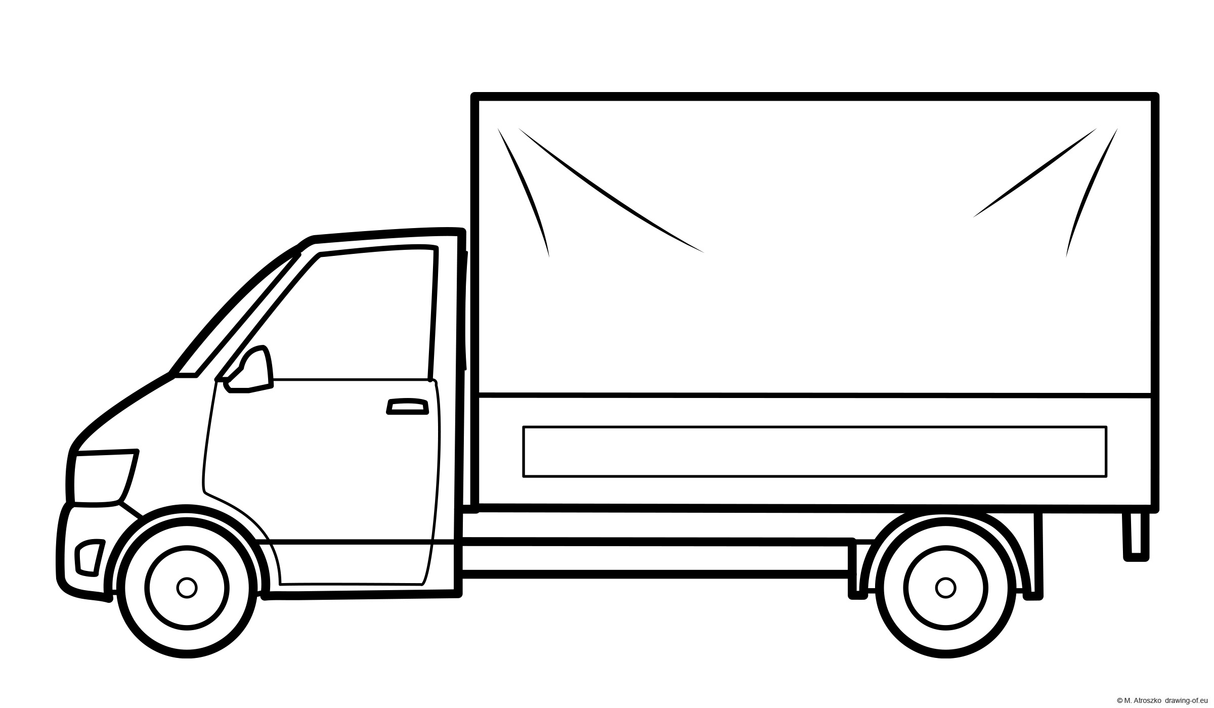 Transporter car coloring page