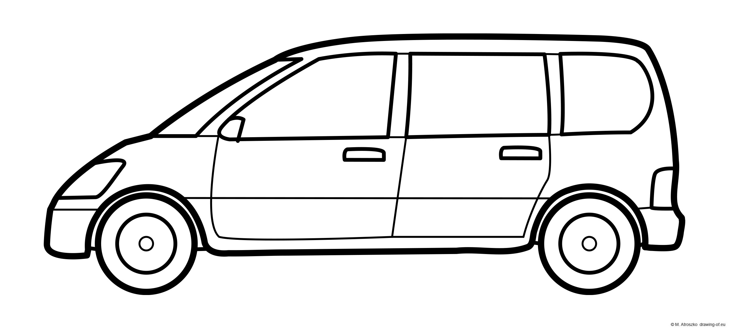 Family car coloring page