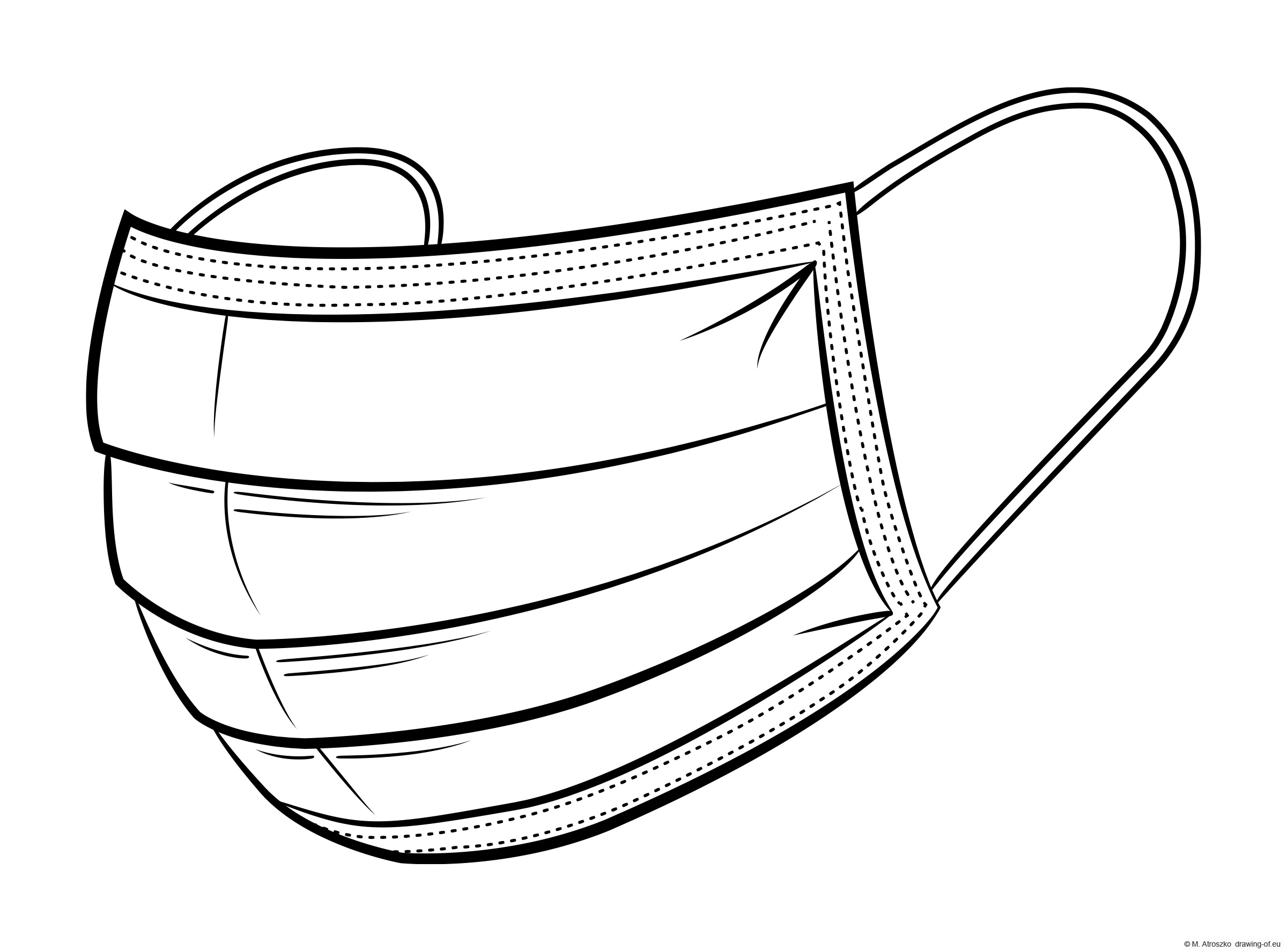 Covid mask coloring page