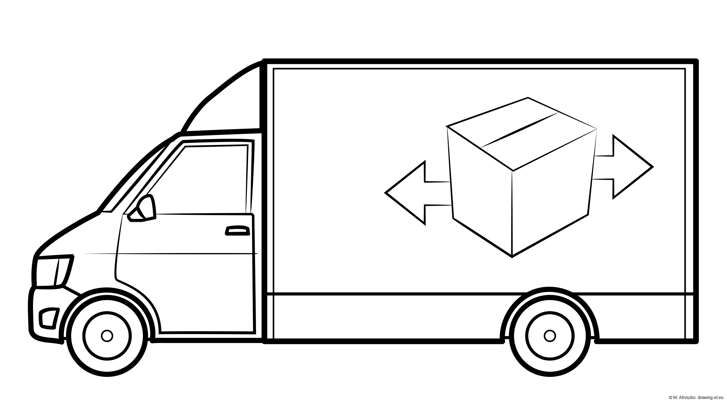 delivery truck - draw