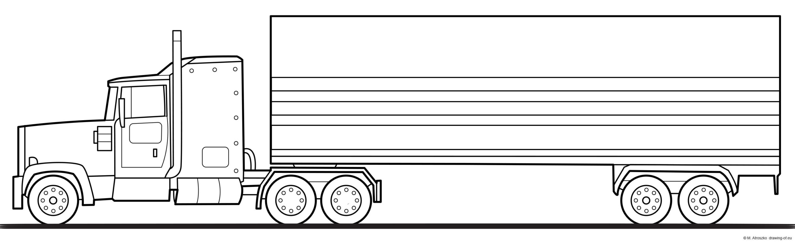 truck trailer drawing