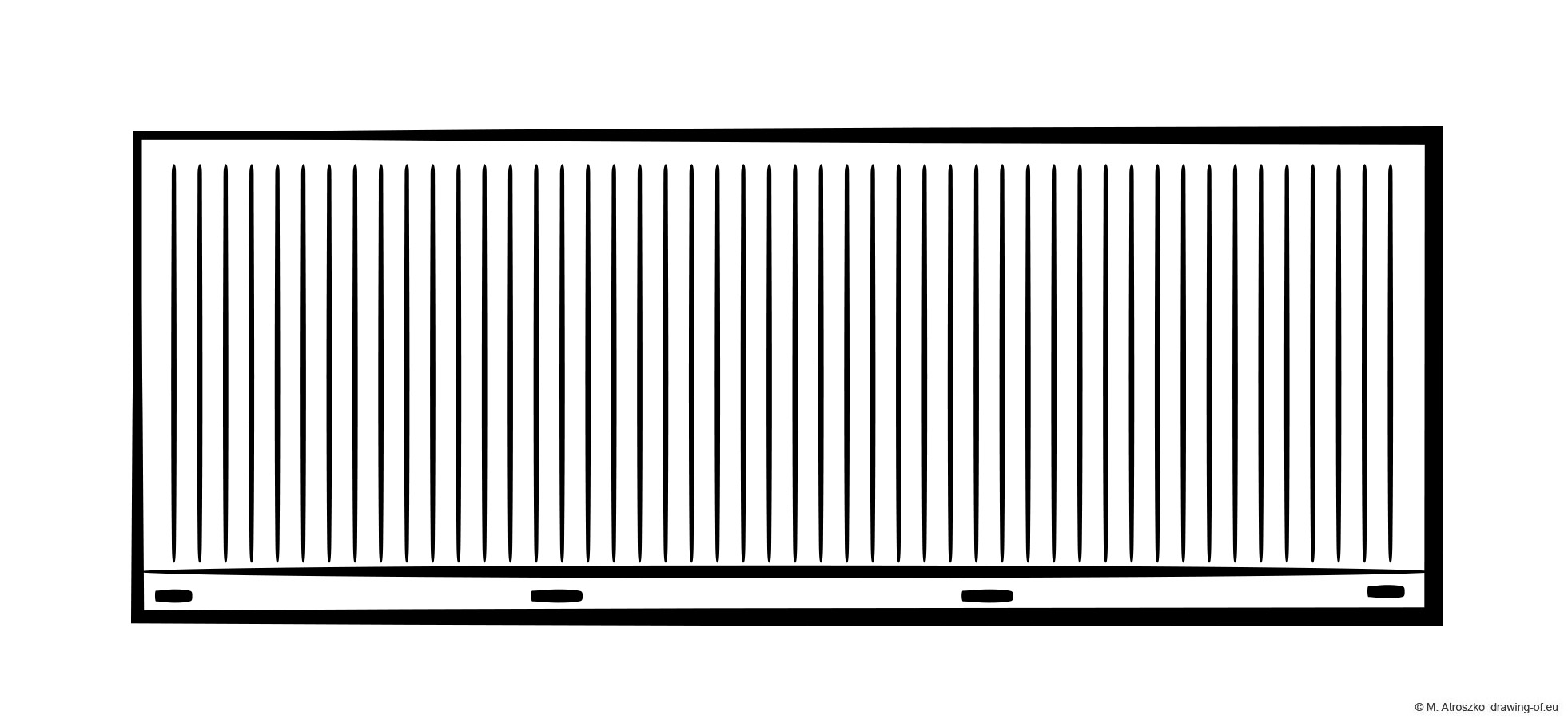 Cargo container drawing