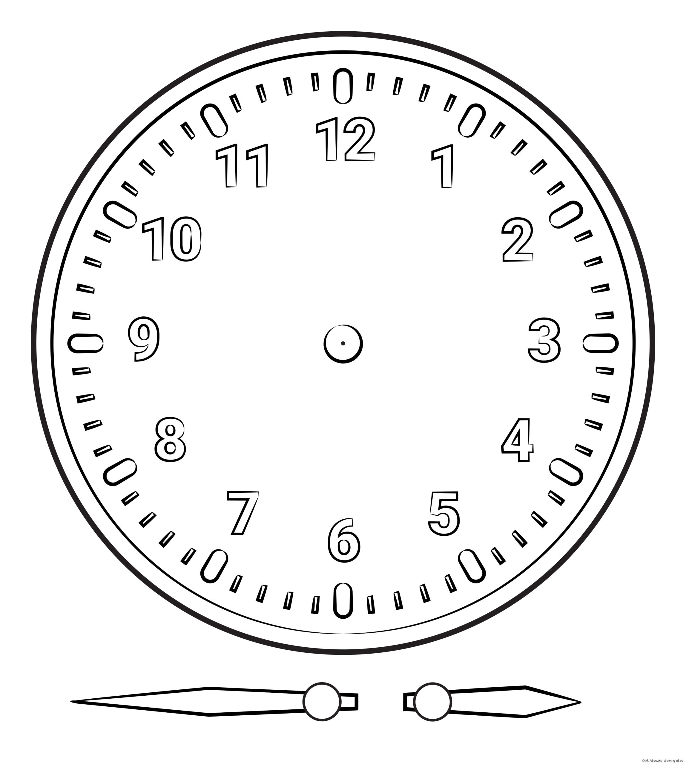 Clock elements for printing