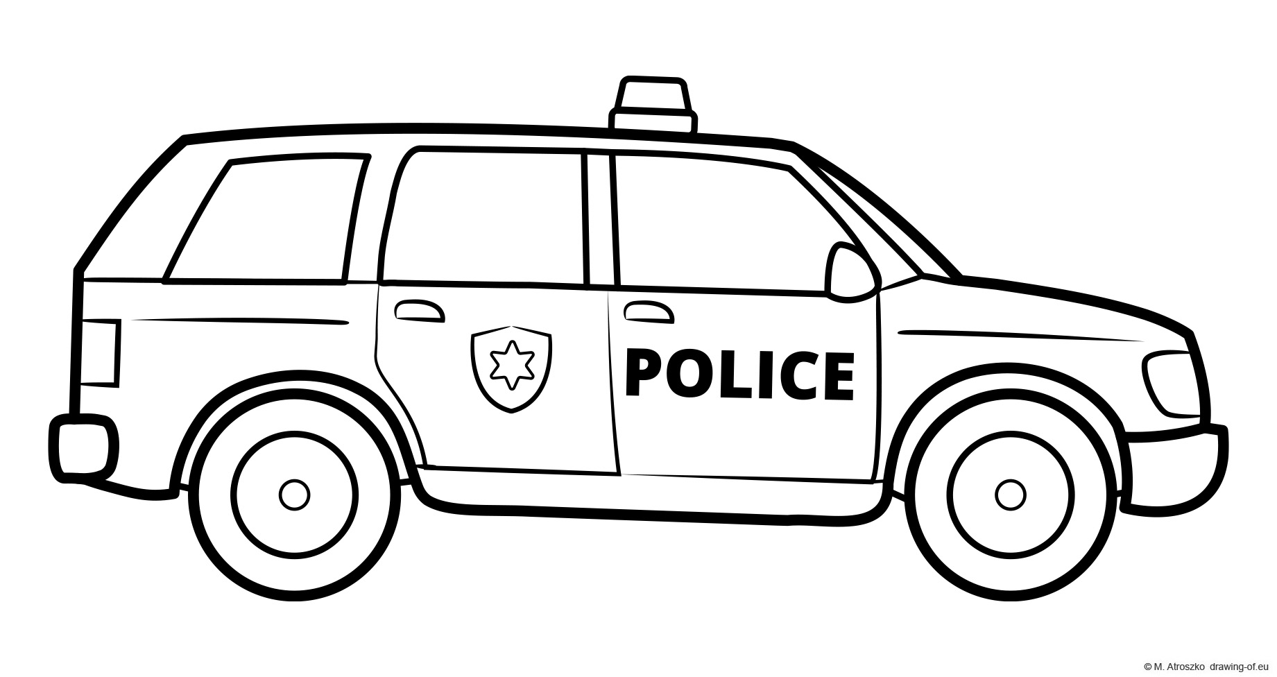 Drawing of police car - SUV