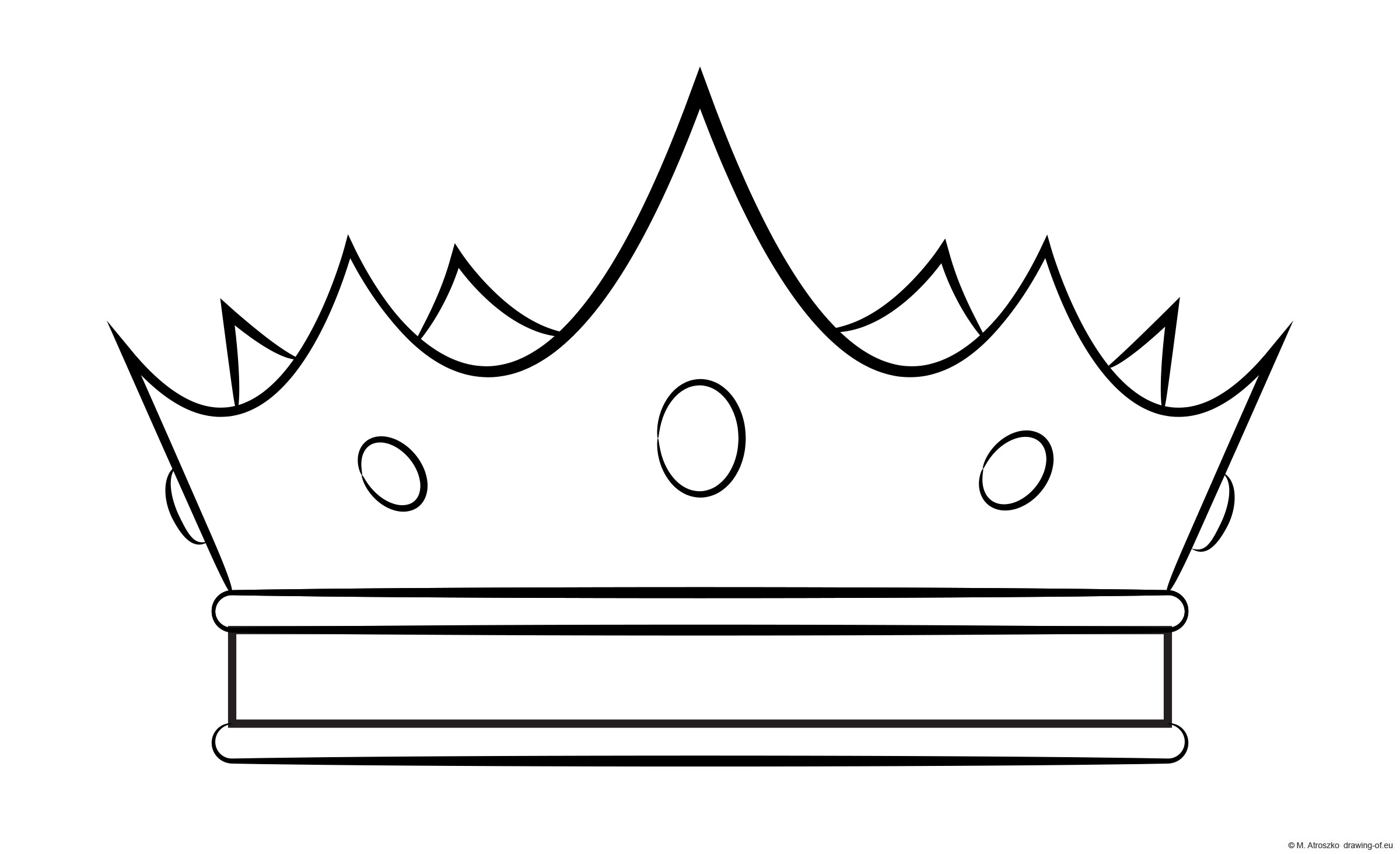 classic crown - coloring page draw
